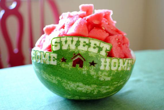 In designs christmas gift wrapping ideas - Carving Watermelon Inspiration Photos