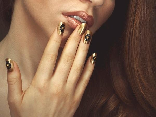 golden nails 46 50 creative nail designs