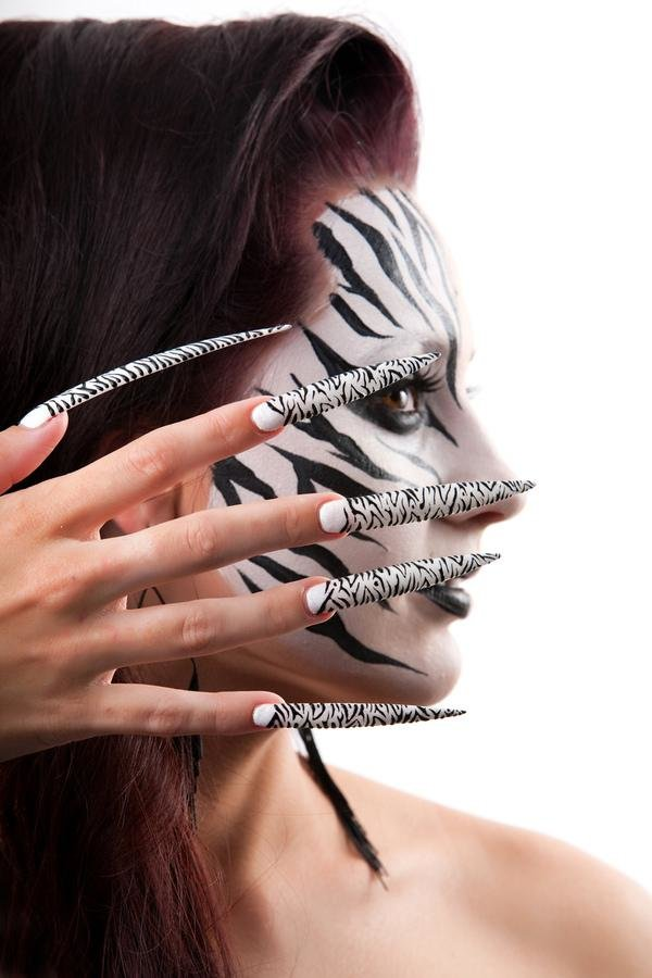 long zebra nails22 50 creative nail designs