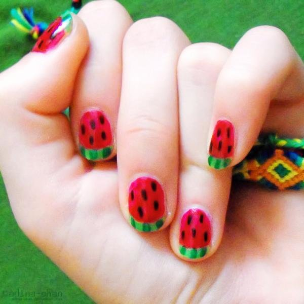 watermelon nails 45 50 creative nail designs