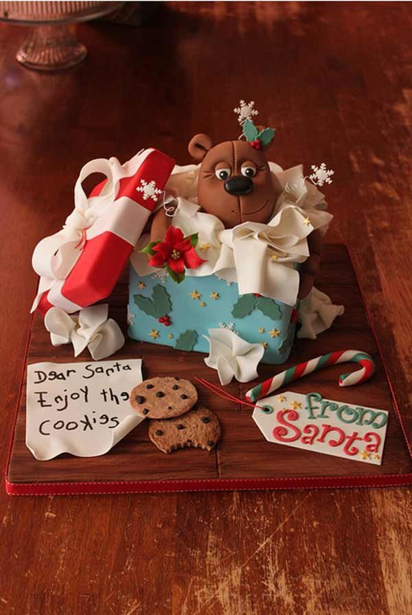 45Box Cake Beautiful Christmas Cake Designs