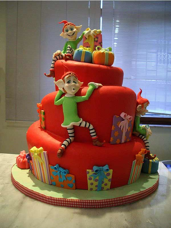 Beautiful Christmas Cake Designs inspiration photos