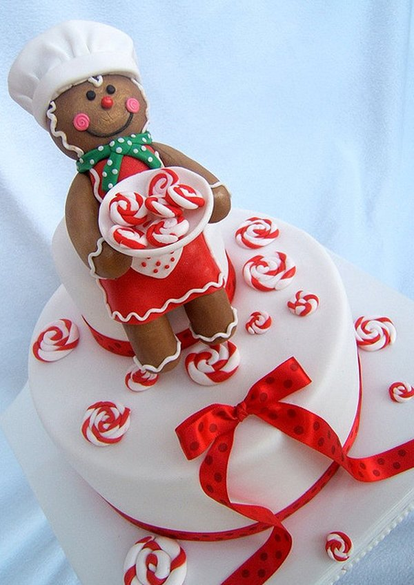 Christmas cake Beautiful Christmas Cake Designs