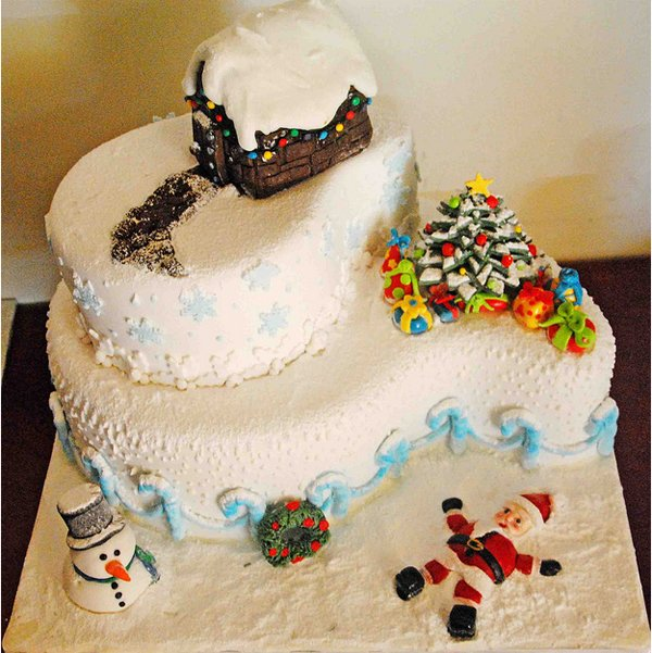 cakes45 Beautiful Christmas Cake Designs