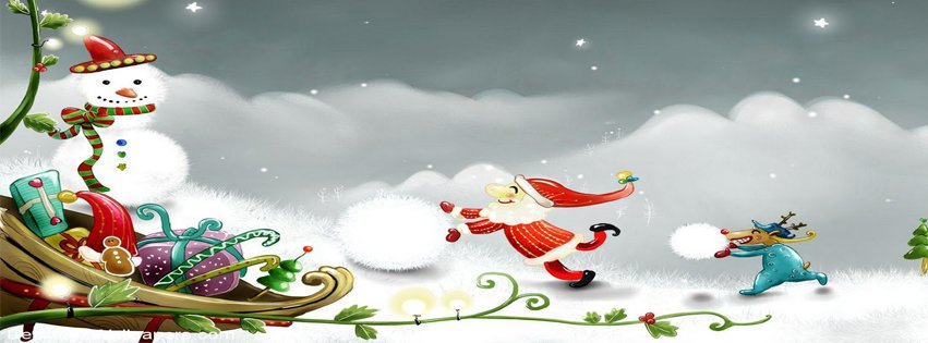 fb cartoon Timeline cover photos for christmas