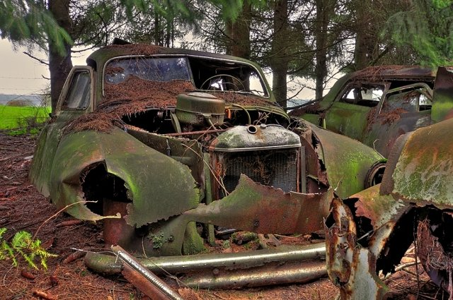 old cars abandoned