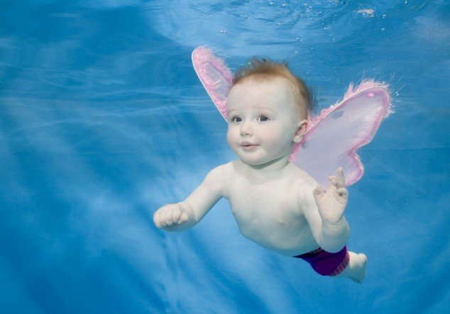 Babies Swimming Underwater