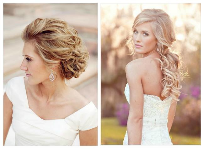 Romantic Bridal Hairstyle : Lovely and romantic bridal hairstyles inspiration photos