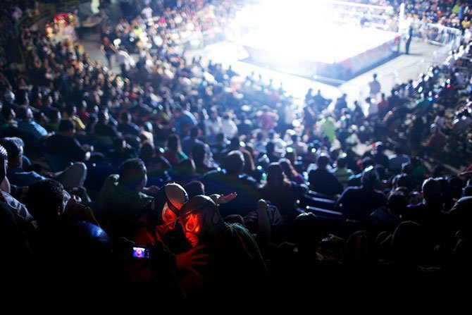 Lucha Libre wrestling. Tijuana, Mexico.