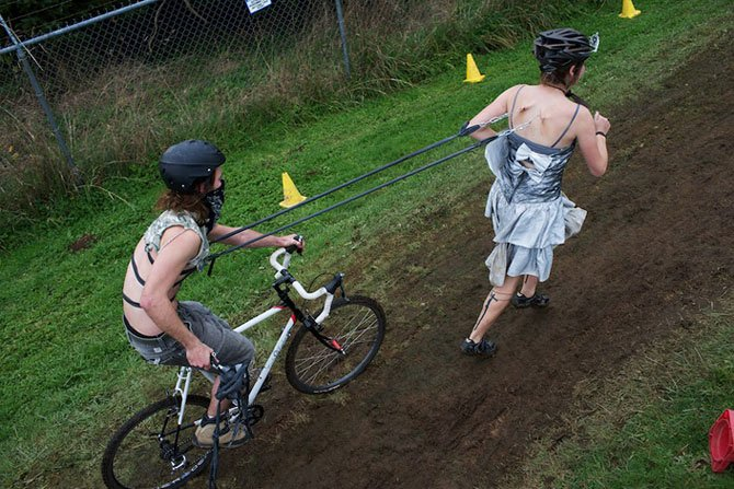 Cyclo-cross. Astoria, Oregon.