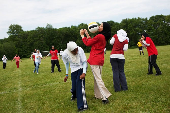 Football on women's Islamic Games. Trenton, New Jersey.