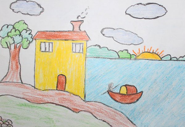 Beautiful kids drawing lessons for people (12)