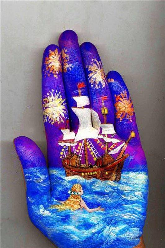 Beautiful Hand paintings by Svetlana Kolosova (10)