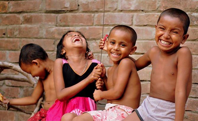 The innocent laugh