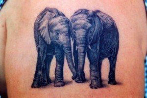 Elephant-Couple-Tattoo-Design