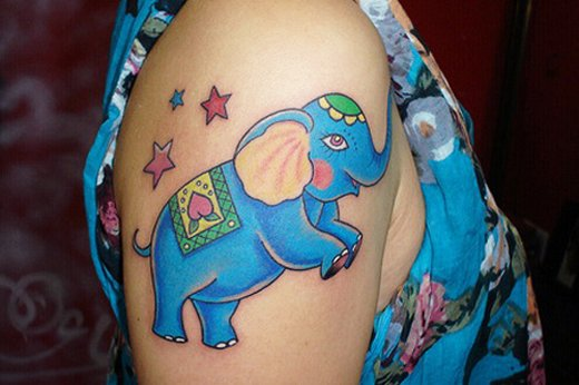 35 Elephant Tattoo Designs (19)