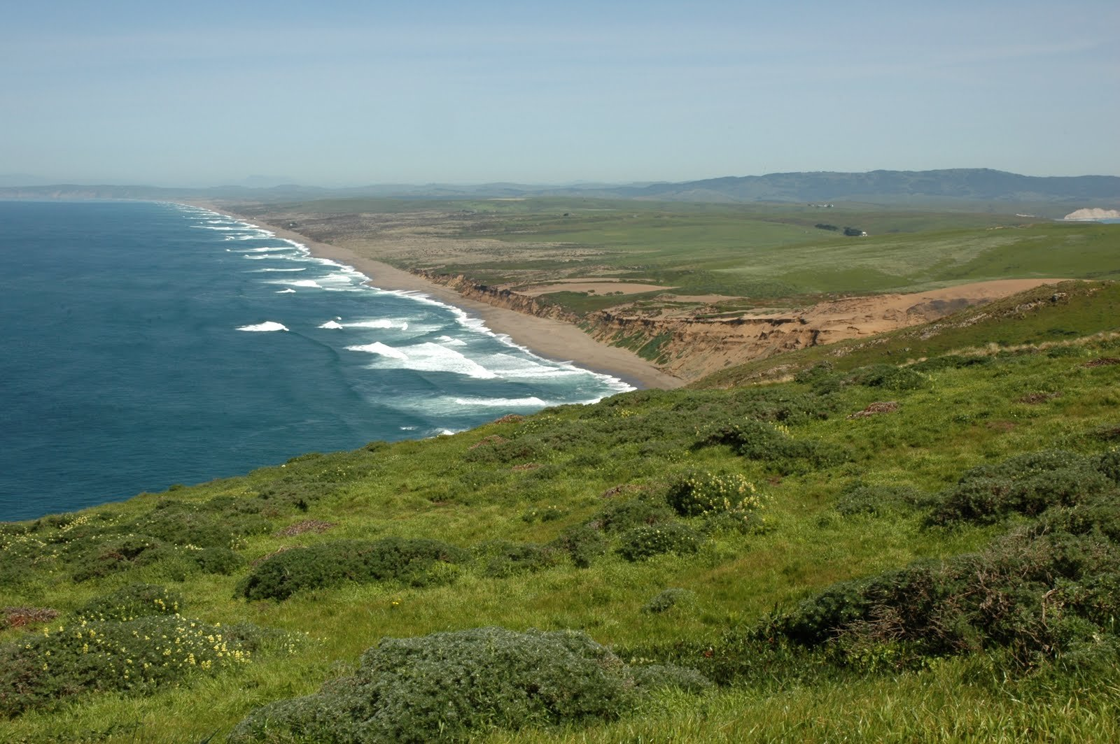 A view of the national seashore and peninsula