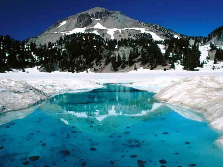 The Thaw, Lassen Volcanic National Park, California US photos, wallpapers