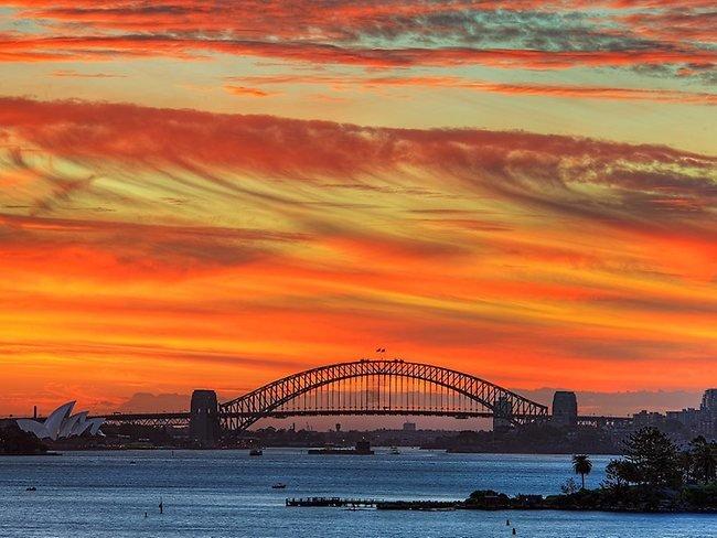 Sunset over Sydney Harbour