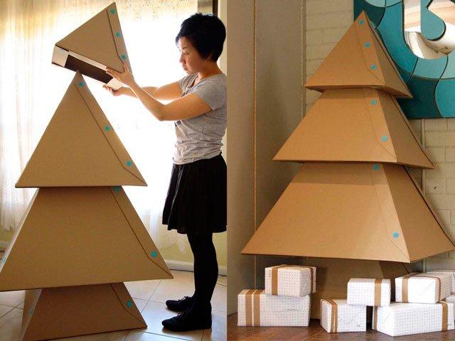Artificial decorations for christmas tree inspiration photos - Fabriquer son sapin de noel en carton ...