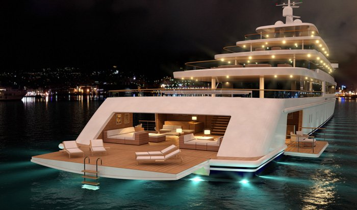 Nauta-luxury-yacht-PROJECT-LIGHT-by-night