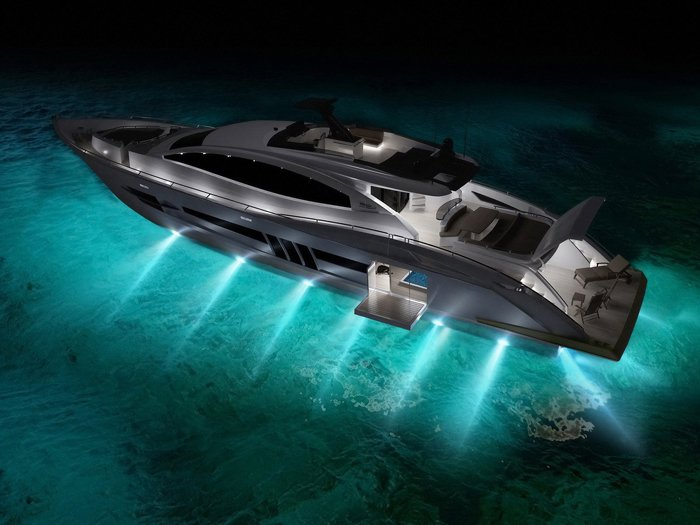 powerboats-wallpapers-ship-a-luxury-yacht-in-the-nightallneed