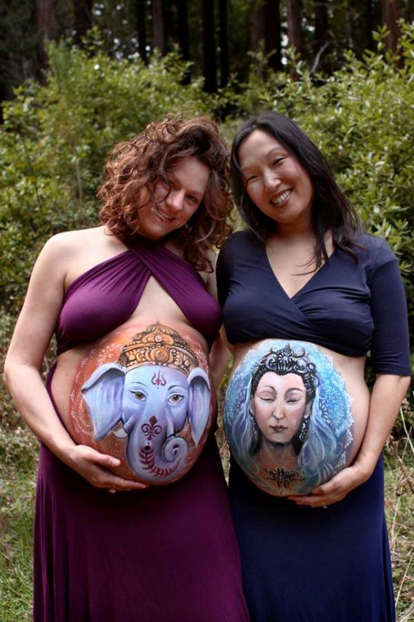 Fantastic Body Paintings on Pregnant Bellies (4)