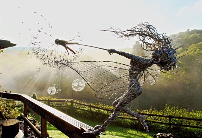 Dramatic Stainless Steel Wire Fairies by Robin Wight (16)