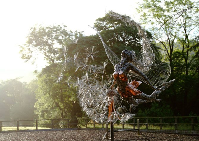 Dramatic Stainless Steel Wire Fairies by Robin Wight (7)