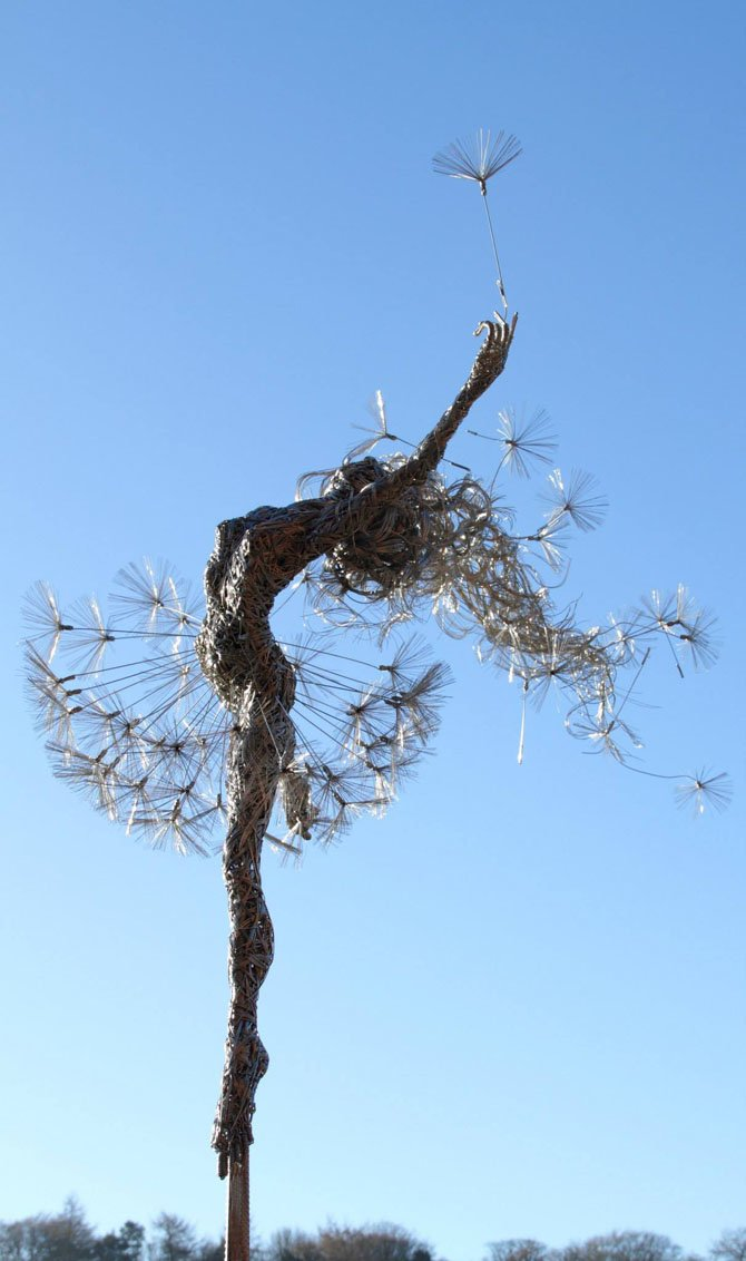 Dramatic Stainless Steel Wire Fairies by Robin Wight (3)