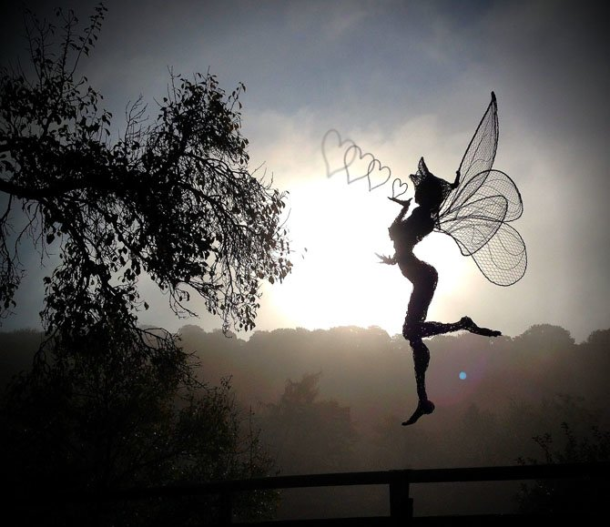 Dramatic Stainless Steel Wire Fairies by Robin Wight (1)
