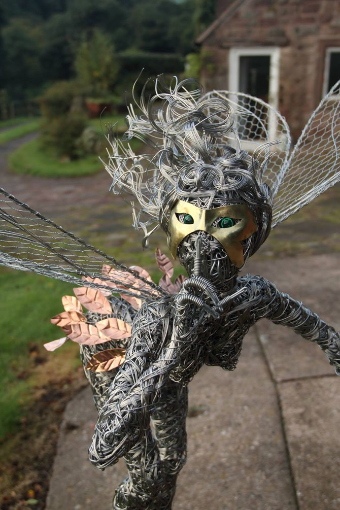 Dramatic Stainless Steel Wire Fairies by Robin Wight (15)