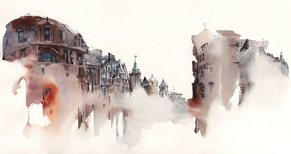 Ink Drawings of Famous European Cities (11)