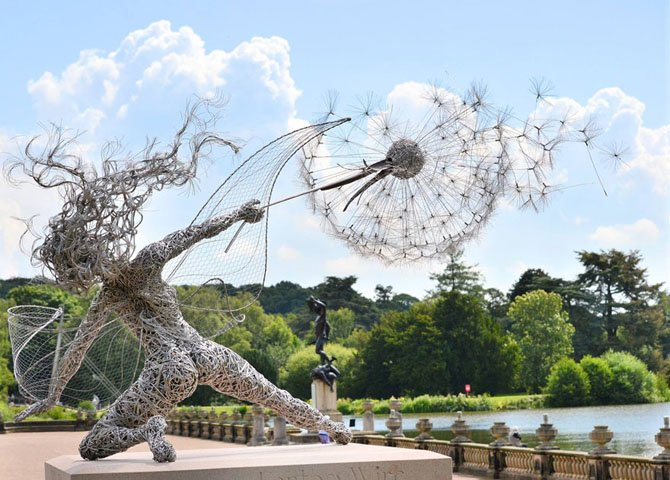 Dramatic Stainless Steel Wire Fairies by Robin Wight (14)