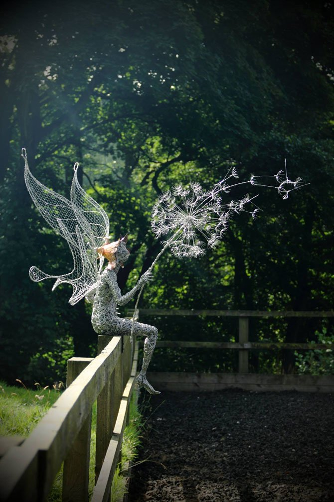 Dramatic Stainless Steel Wire Fairies by Robin Wight (13)