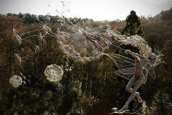 Dramatic Stainless Steel Wire Fairies by Robin Wight (12)