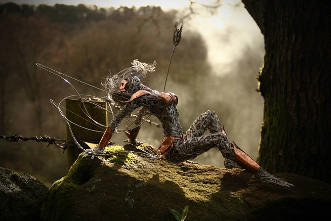 Dramatic Stainless Steel Wire Fairies by Robin Wight (9)