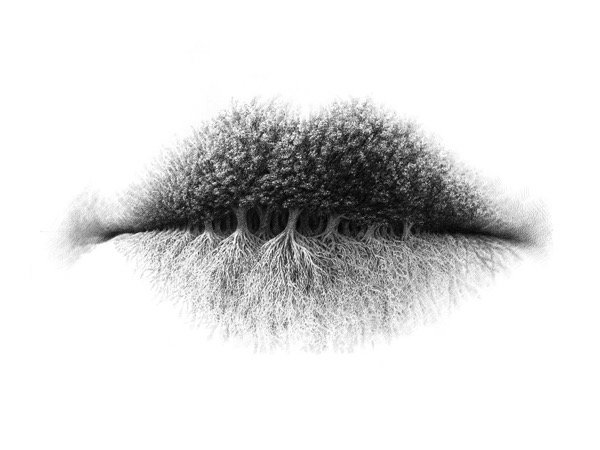 Surreal Pencil Drawings of Lips (1)