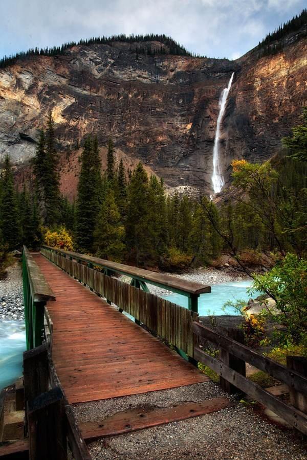 The Canadian Rockies Wooden Bridge