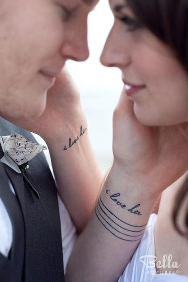 Romantic Couples Tattoo Designs  (53)