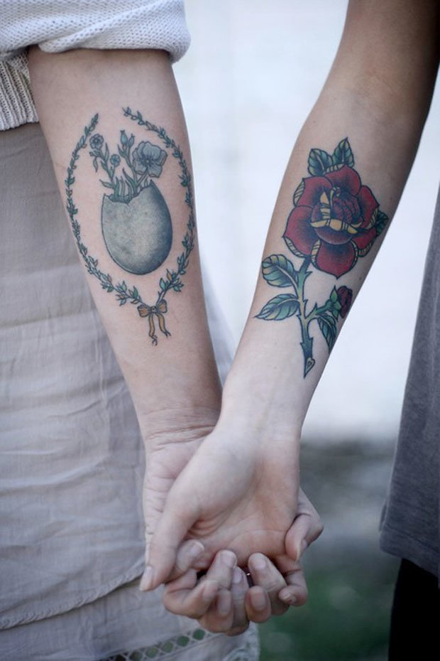 Romantic Couples Tattoo Designs  (52)
