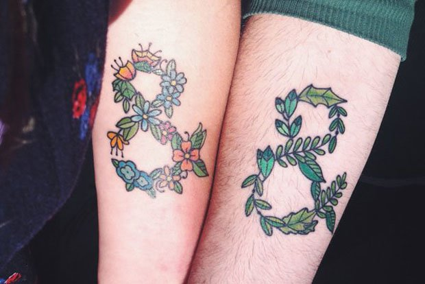 Romantic Couples Tattoo Designs  (42)