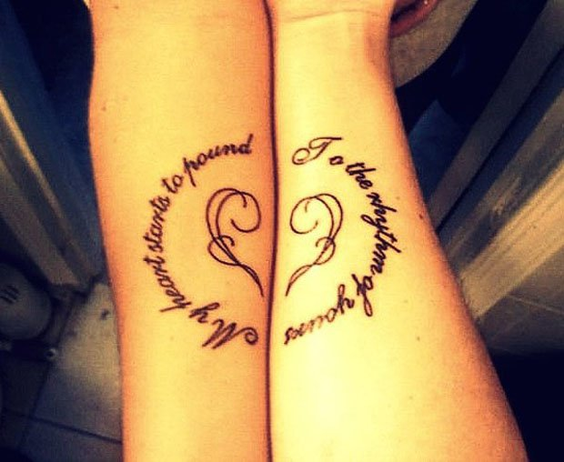 Romantic Couples Tattoo Designs  (36)