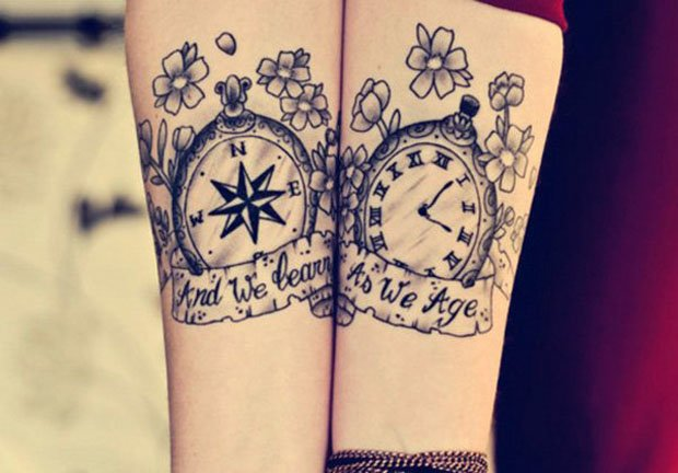 Romantic Couples Tattoo Designs (61)