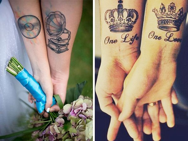 Matching Tattoo Ideas For Couples Inspiration Photos