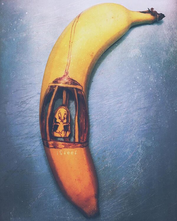 Beautiful Banana carving Art (1)