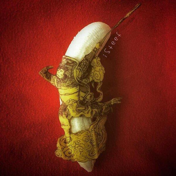 Beautiful Banana carving Art (10)