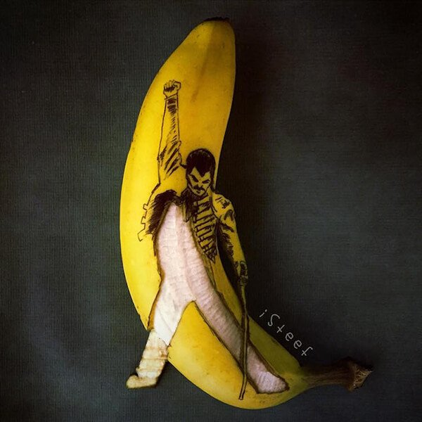 Beautiful Banana carving Art (9)