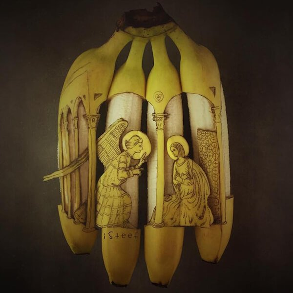 Beautiful Banana carving Art (6)