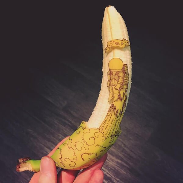 Beautiful Banana carving Art (5)